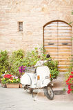 One of the most popular transport in Italy, vintage Vespa Royalty Free Stock Image