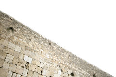 Isolated Wailing Wall Stock Image