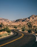 Joshua Tree National Park Curvy Roads royalty free stock image