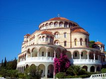 Church of Agios Nektarios. Aegina, Greece royalty free stock image