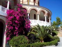 Agios Nektarios Monastery in Aegina island royalty free stock photo