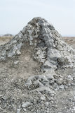 One mud volcano in Gobustan National Park. Royalty Free Stock Photography