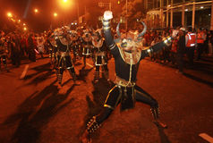 One muharram tradition. Surakarta loyal servant doing traditional carnival in order to commemorating one muharram tradition in Solo, Central Java, Indonesia Stock Image