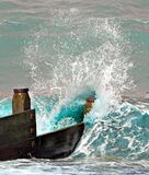 Crashing ocean wave water sea mist spray splash splashing seaside crest beaches beach