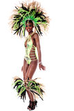 One of my best samba costume. Full length of woman wearing samba costume Royalty Free Stock Images