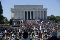 One Nation Rally - Lincoln Memorial, Washington, D Stock Photos