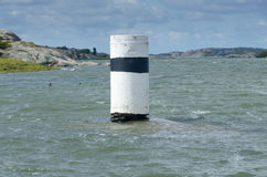 One navigation mark in the water Royalty Free Stock Photography
