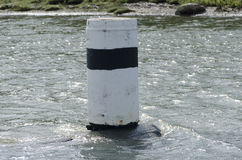 One navigation mark in the water Stock Image