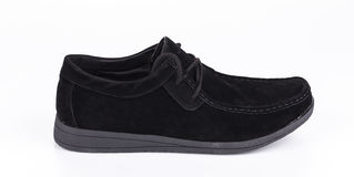 One new black shoe Stock Images