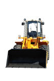 One new bulldozer on white Royalty Free Stock Photo