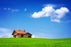 New house on blue sky Royalty Free Stock Photography