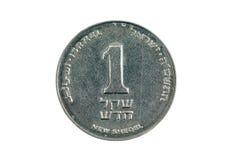 One new Israeli shekel on a white background Stock Images