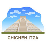 One of New 7 wonders of the world: Chichen Itza Royalty Free Stock Photos
