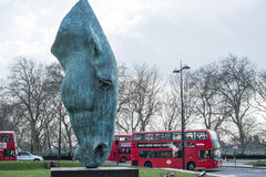 One of Nic Fiddian Green's horse head sculpture Stock Images