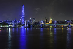 One night in London. London at nighttime royalty free stock images