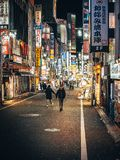 One night in Tokyo stock images