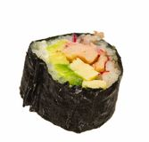 One Nori Wrapped Sushi Roll Royalty Free Stock Image