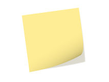 One note paper Stock Photos