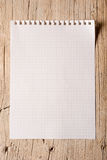 Notepad sheet Stock Photo