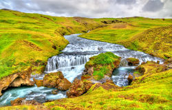 One of numerous waterfalls on the Skoga River - Iceland Stock Photo