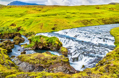 One of numerous waterfalls on the Skoga River - Iceland Royalty Free Stock Photos