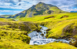 One of numerous waterfalls on the Skoga River - Iceland Royalty Free Stock Photo