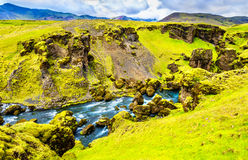 One of numerous waterfalls on the Skoga River - Iceland Royalty Free Stock Image