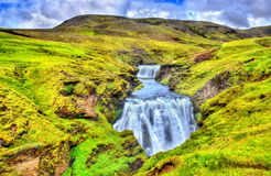 One of numerous waterfalls on the Skoga River - Iceland Royalty Free Stock Images