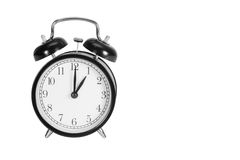 One O' Clock on alarm clock Stock Images