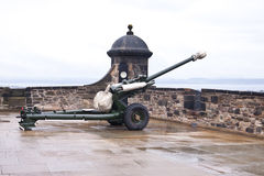 The One o'Clock Gun at Edinburgh Castle Stock Image