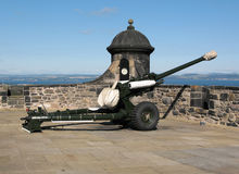 The One oClock Gun at Edinburgh Castle Royalty Free Stock Photos