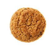 One oatmeal cookie isolated Stock Image