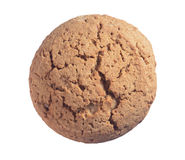 One oatmeal cookie Royalty Free Stock Photography
