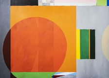 Free One Of A Series Of Geometric Abstract Paintings; Each Evolving From The Previous Painting.  This Is Number 11 In The Series Stock Images - 142867904