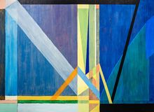 Free One Of A Series Of Geometric Abstract Paintings; Each Evolving From The Previous Painting.  This Is Number 4 In The Series Stock Images - 142867614