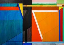 Free One Of A Series Of Geometric Abstract Paintings; Each Evolving From The Previous Painting.  This Is Number 7 In The Series Stock Photography - 142867712