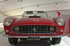 Maranello, italy: Ferrari Vintage sports car. A one off red ferrari sports car built in maranello, italy. image taken at the ferrari museum, marenello, italy stock photography