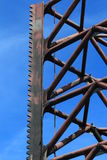 One Offshore Jack Up Rig Leg Close Up Royalty Free Stock Photos