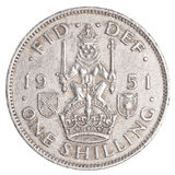 One old british shilling coin Royalty Free Stock Image
