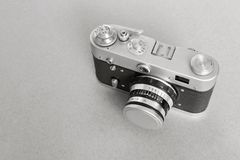 One old camera of monochrome tone Royalty Free Stock Photo