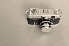 One old camera of tone sepia Royalty Free Stock Photography