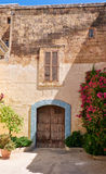 One of the old cozy houses of Mdina, Malta Stock Photography