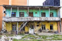 One of the old historical house in Kars. Royalty Free Stock Photography