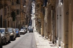 One of the old, historical streets in Valletta / Malta. Image sh Stock Photo