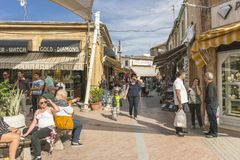Street in Nicosia city. One of the old  street , Turkish part Nikosia city  Lefkosia . Cyprus . Capital city of Cyprus Stock Photography