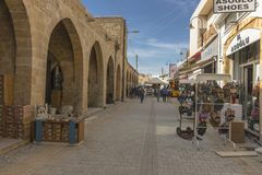 Street in Nicosia city. One of the old  street , Turkish part Nikosia city  Lefkosia . Cyprus . Capital city of Cyprus Royalty Free Stock Photo