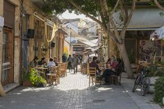 Street in Nicosia city. One of the old  street , Turkish part Nikosia city  Lefkosia . Cyprus . Capital city of Cyprus Stock Photos