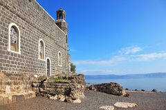 One of the oldest churches in the Sea of Galilee Stock Photo