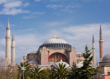 Haghia Sophia in Istanbul Turkey Stock Images
