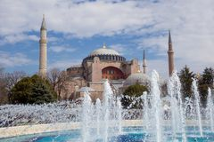 Haghia Sophia in Istanbul Turkey Royalty Free Stock Images